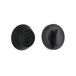 Defiant Matte Black Single Cylinder Deadbolt