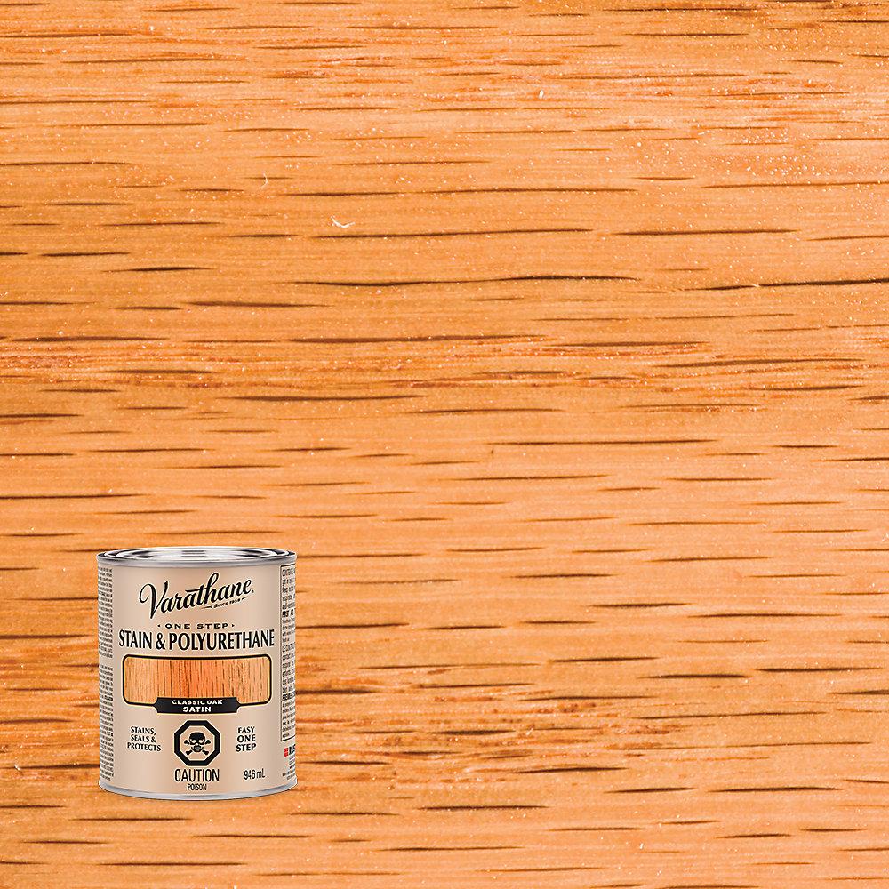 Varathane Teinture et polyuréthane chêne classique satiné 946ml