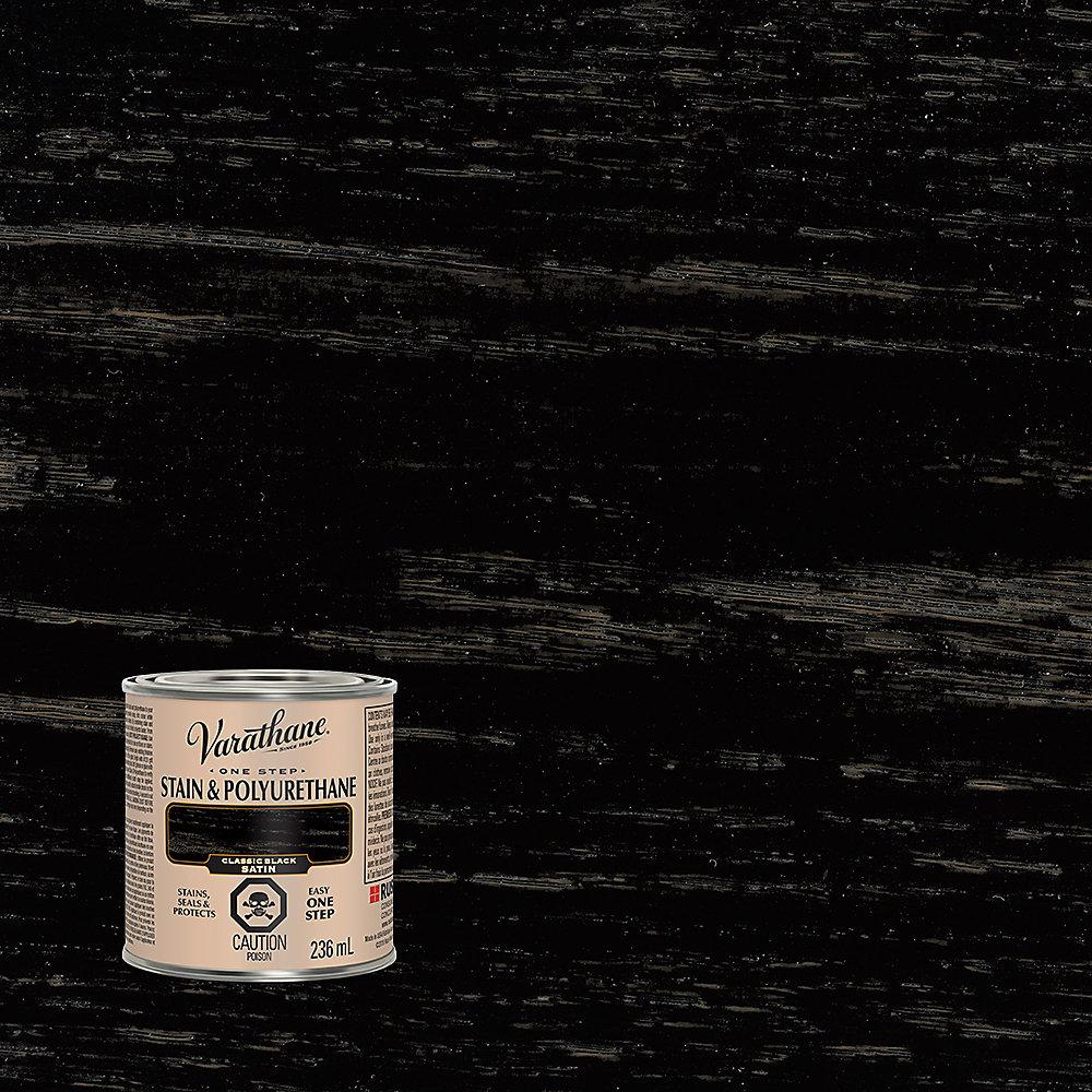 Varathane Teinture et polyuréthane noir classique satiné 236ml