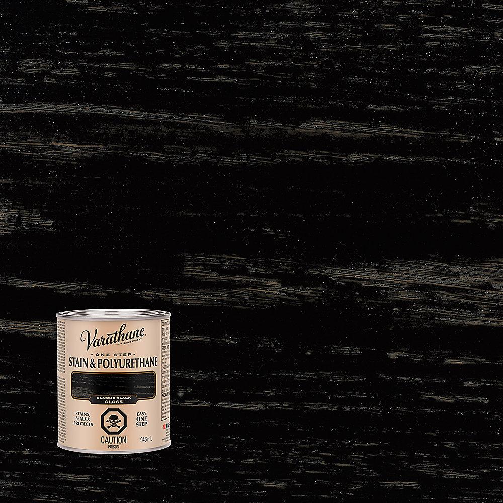 Varathane Teinture et polyuréthane noir classique lustré 946ml