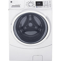 ENERGY STAR 5.2 cu.ft. capacity stainless steel drum frontload washer - White - ENERGY STAR®