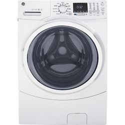GE ENERGY STAR 5.2 cu.ft. capacity stainless steel drum frontload washer - White - ENERGY STAR®
