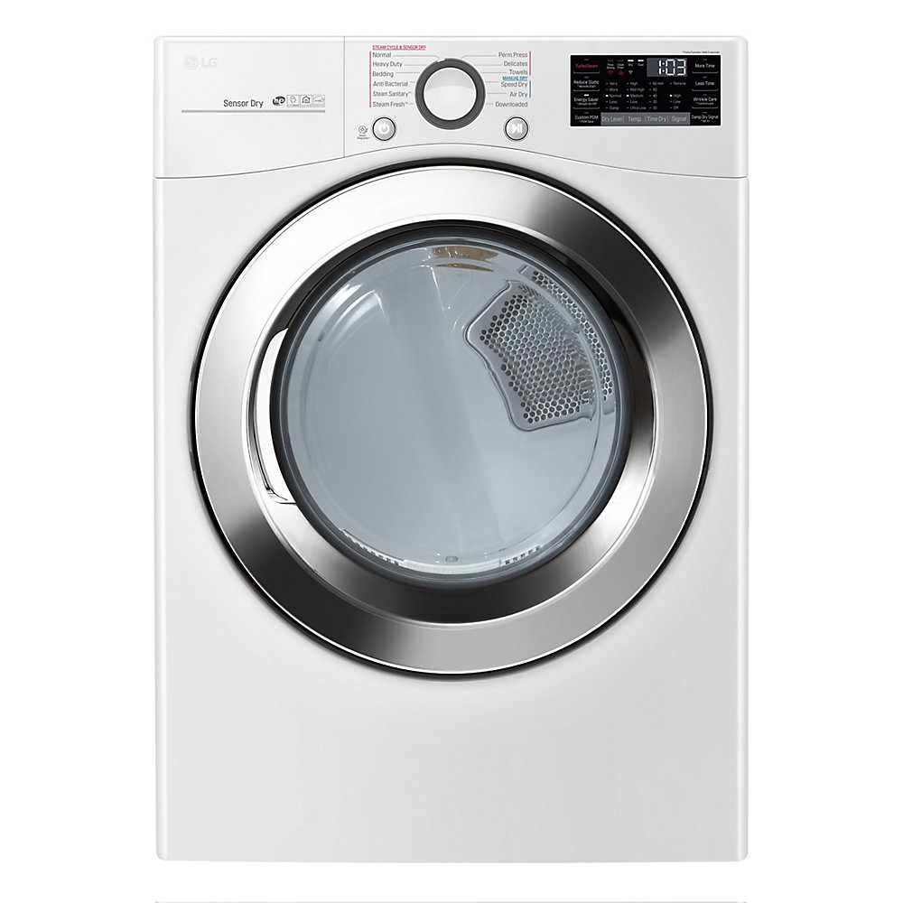 7.4 cu. ft. Ultra Large Capacity Electric Dryer with TrueSteam Technology in White - ENERGY STAR®