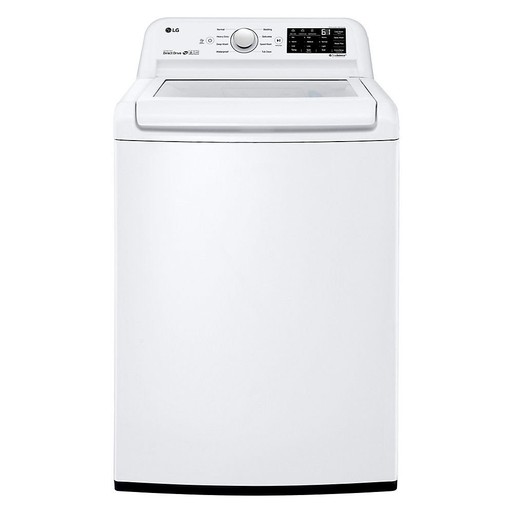 5.2 cu. ft. Top Load Washer Large Capacity High Efficiency with Front Control Design in White - ENERGY STAR®