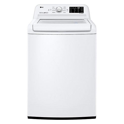 Laveuse à chargement par le haut de grande capacité de 5,2 pi3 à haut rendement élevé avec commande frontale de couleur blanche - ENERGY STAR®