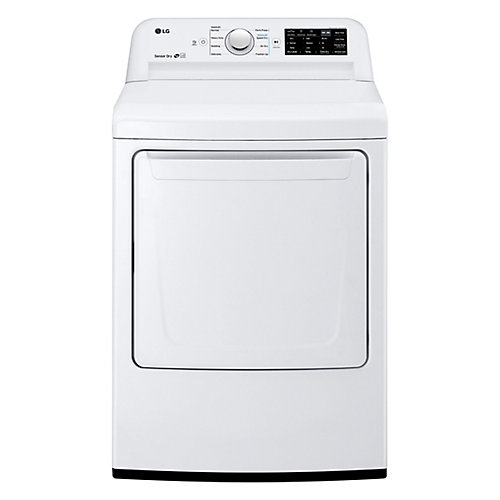 7.3 cu. ft. Electric Dryer with Ultra Large Capacity and Sensor Dry in White - ENERGY STAR®