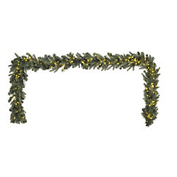 Home Accents Holiday 9 ft. 500-Light Warm White LED Twinkle Christmas Garland