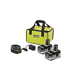 18V ONE+ Lithium-Ion LITHIUM+ Kit de dmarrage de batterie avec (2) batteries de 3,0 Ah, chargeur rapide et sacoche
