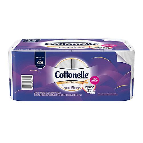 Papier hygiénique Ultra ComfortCare doux, 24 rouleaux doubles