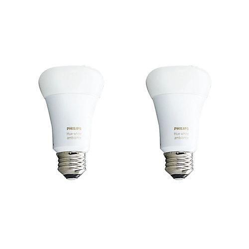 Hue Ambiance A19 - Cas de 2 Ampoules