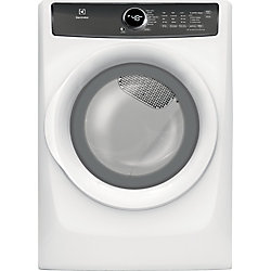 8.0 cu. ft. Front Load Perfect Steam Electric Dryer in White - ENERGY STAR®