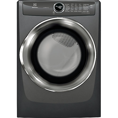 8.0 cu. ft. Front Load Perfect Steam Electric Dryer in Titanium - ENERGY STAR®