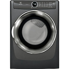 8.0 cu. ft. Front Load Perfect Steam Electric Dryer in Titanium