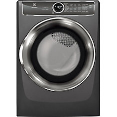 8.0 cu. ft. Front Load Perfect Steam Electric Dryer in Slate