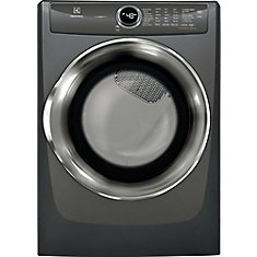 8.0 cu. ft. Front Load Perfect Steam Gas Dryer in Titanium