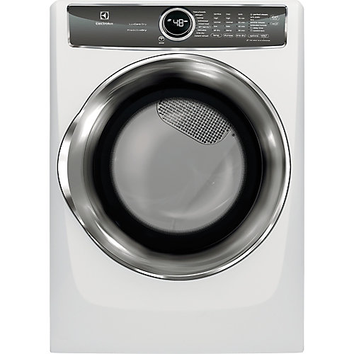 8.0 cu. ft. Front Load Gas Dryer with Steam in White