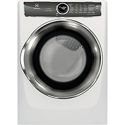 8.0 cu. ft. Front Load Gas Dryer with Steam in White - ENERGY STAR®