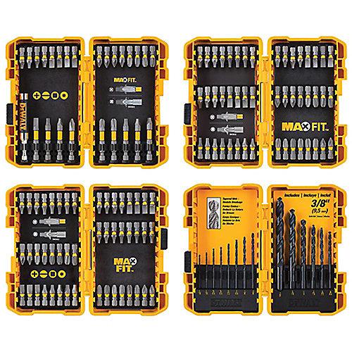 MAXFIT Screwdriving and Drill Bit Set (136-Piece)