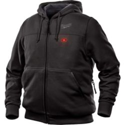 Milwaukee Tool Sweat à capuche M12 12V sans fil au lithium-ion noir chauffant pour homme (veste seulement)