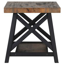 !nspire Langport Accent Table-Rustic Oak