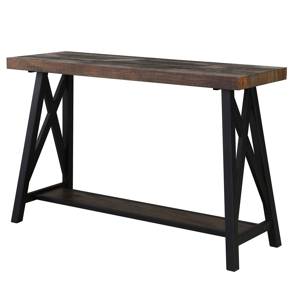 !nspire Langport Console Table-Rustic Oak