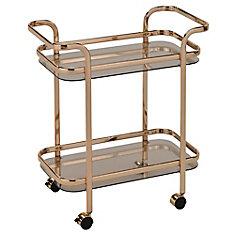 Zedd 2-Tier Bar Cart-Gold