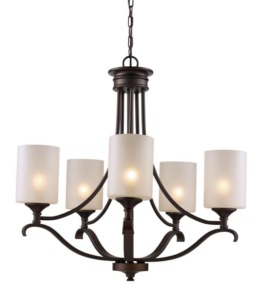 Bel Air Lighting Ballard 5-Light Rubbed Oil Bronze Chandelier