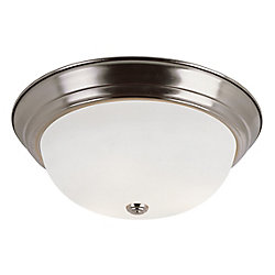 Bel Air Lighting Bowers 3-Light Brushed Nickel Flushmount