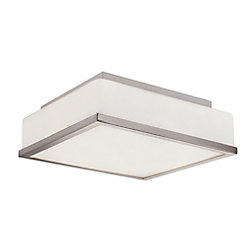 Bel Air Lighting Rise 2-Light Polished Chrome Flushmount