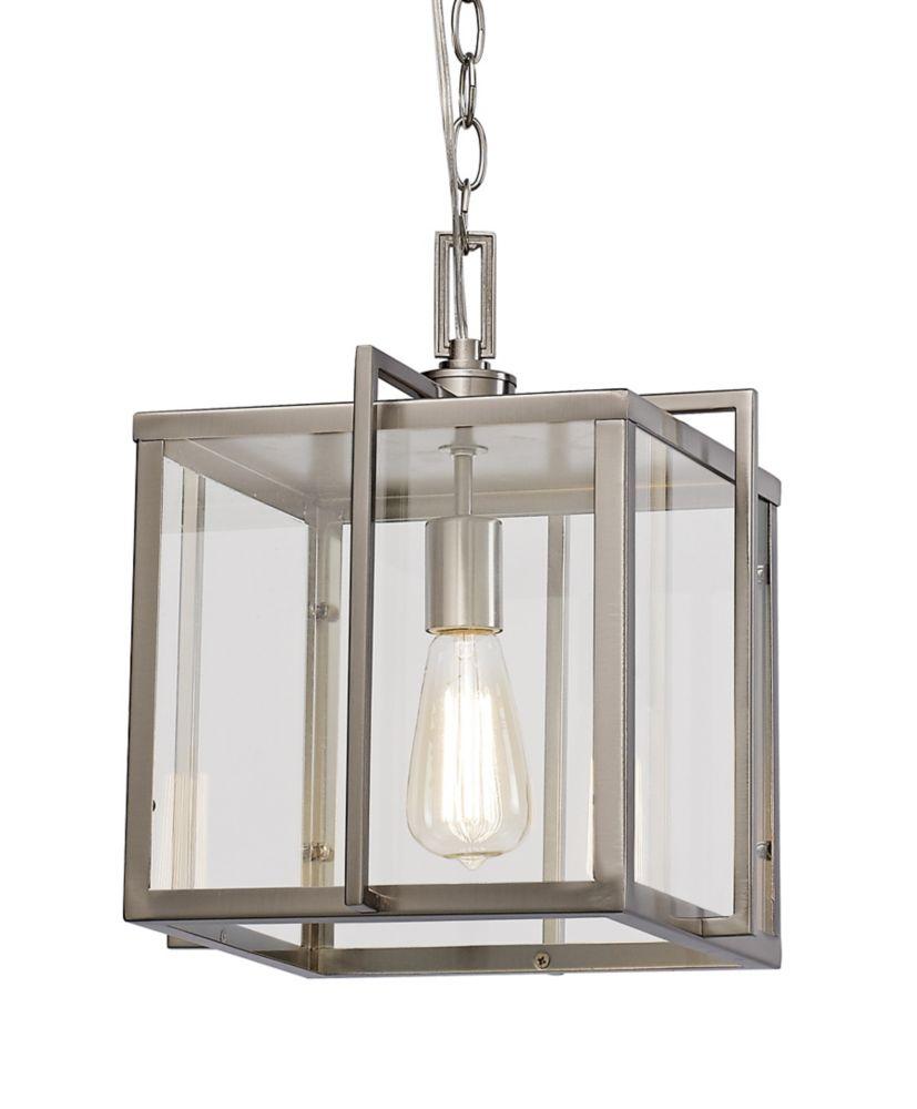Bel Air Lighting Eastwood II 1-Light Brushed Nickel Pendant