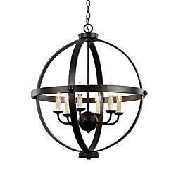 Bel Air Lighting Laurence 6-Light Rubbed Oil Bronze Pendant