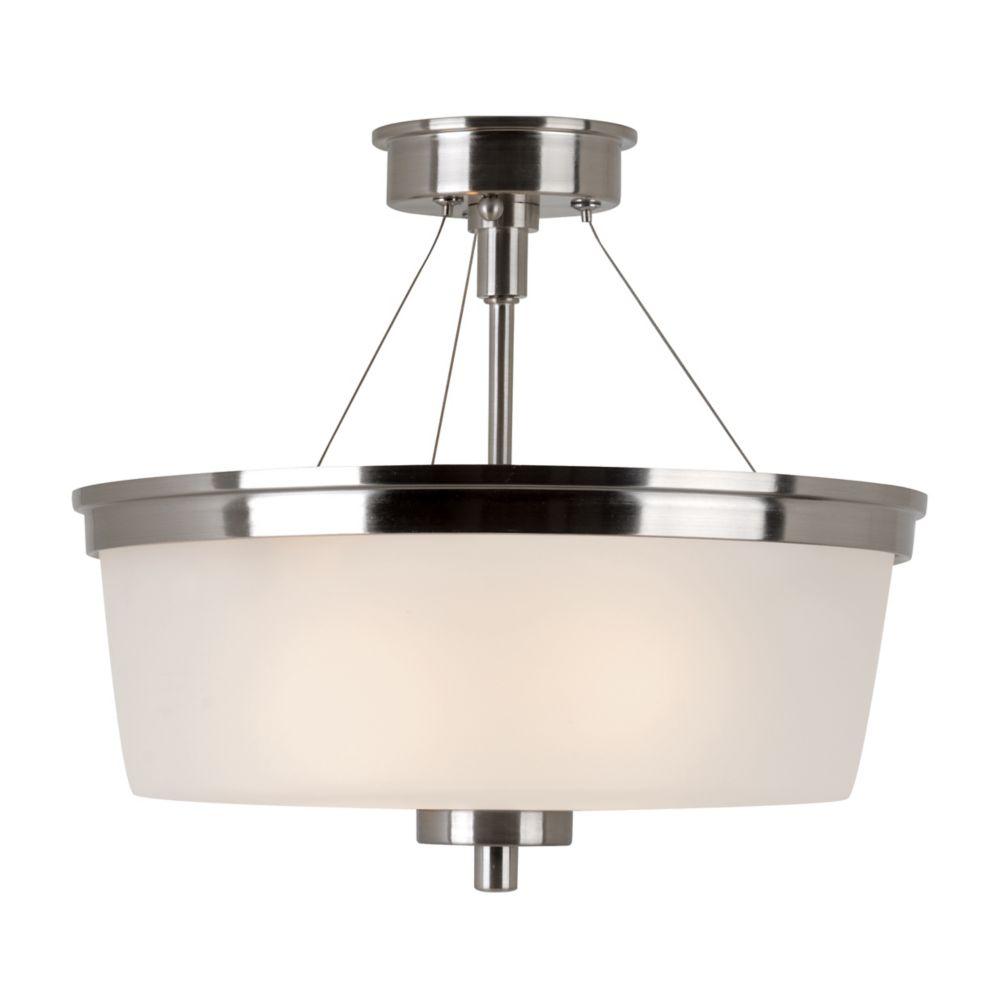 Bel Air Lighting Fusion 2-Light Brushed Nickel Semiflush