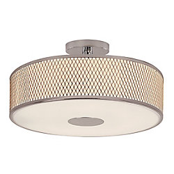 Bel Air Lighting Cardiff Semi-affleurant en Chrome Poli 4 Lumière