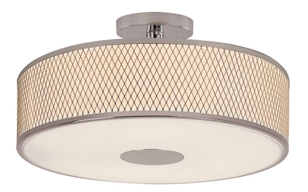 Bel Air Lighting Cardiff 4-Light Polished Chrome Semiflush
