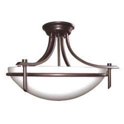 Bel Air Lighting Vitalian 3-Light Rubbed Oil Bronze Semiflush