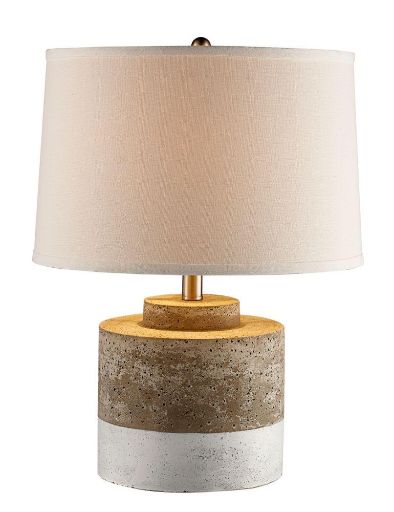 Bel Air Lighting Vendor 1-Light Aged Ceramic Table Lamp