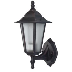 Bel Air Lighting Alexander 1-Light Rust Wall Lantern