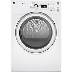 GE 7.0 cu.ft capacity frontload electric dryer - white - ENERGY STAR®