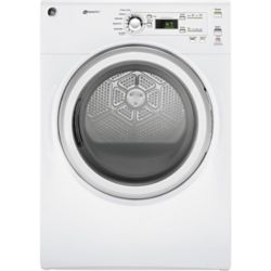 GE 7.0 cu.ft capacity frontload gas dryer - white - ENERGY STAR®