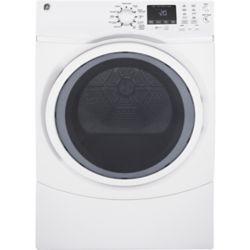 GE 7.5 cu.ft capacity frontload gas dryer - white - ENERGY STAR®