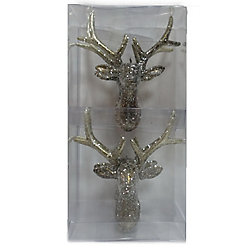 Home Accents Holiday Deer Christmas Ornament (4-Pack)