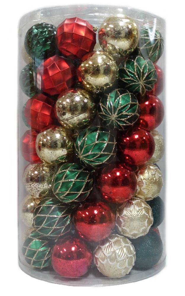 80mm Shatter-Proof Christmas Ornament (75-Pack)
