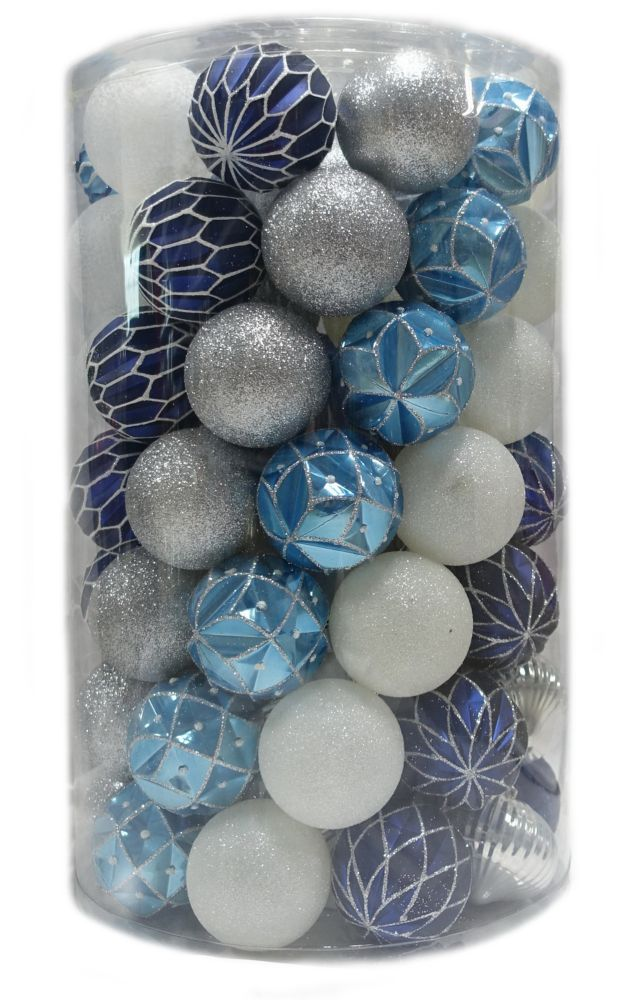 80mm Shatterproof Ornaments (75-Count)