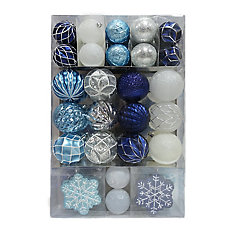 Assorted Shatter-Proof Christmas Ornament (80-Pack)