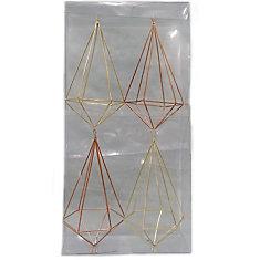 Shatter-Resistant Geometric Christmas Ornament (4-Pack)