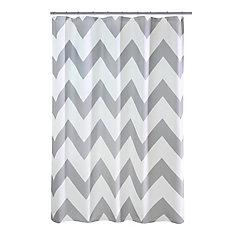 Chevron Fabric Shower Curtain 70 inch x 72 inch