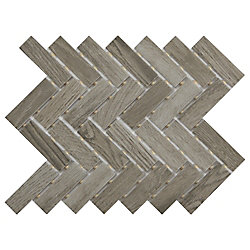 Shadow Wood 9-inch 12-inch x 6 mm Ceramic Herringbone Mosaic Tile (0.60 sq. ft. / piece)