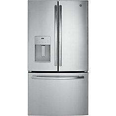 36-inch W 25.5 cu. ft. Bottom Freezer French Door Refrigerator in Stainless Steel - ENERGY STAR®