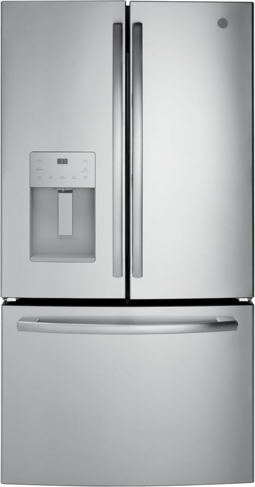 GE 36-inch 25.5 cu. ft. Bottom Freezer French Door Refrigerator in Slate - ENERGY STAR®
