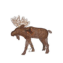 Home Accents Holiday 48-inch Warm White LED-Lit Twinkle Moose Christmas Decoration